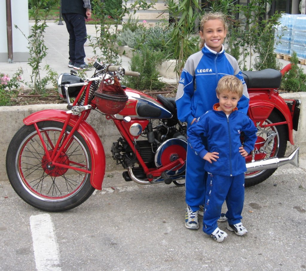 Kids And Motorcycle